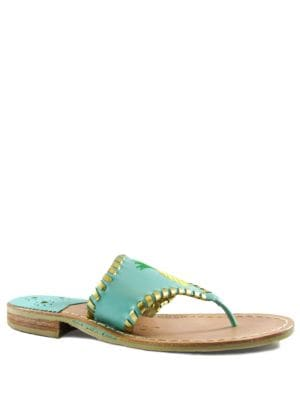 Pineapple Leather Thong Sandals by Jack Rogers