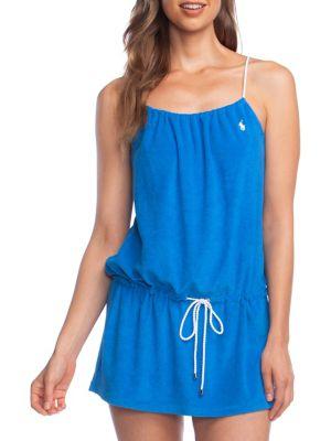 Spaghetti-Strap Drawstring Dress by Polo Ralph Lauren