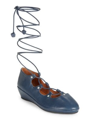 Nita Lace-Up Demi Wedge Shoes by Gentle Souls