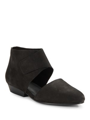 Calia Nubuck Leather Cutout Booties by Eileen Fisher