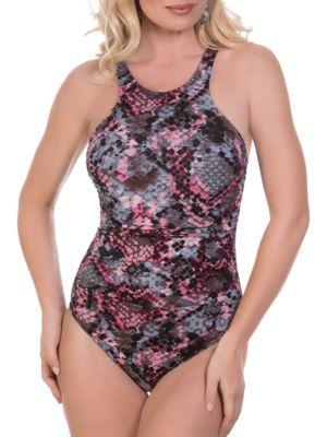 Danika One-Piece Python Swimsuit by Magicsuit