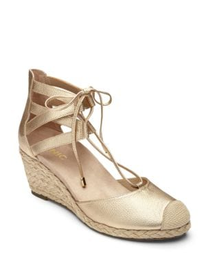 Calypso Leather Espadrille Wedge by Vionic