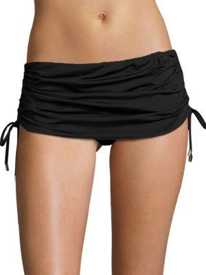 Side Shirred Skirted Bottom by Calvin Klein