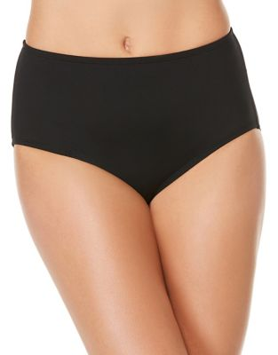 Solid Mid-Waist Bikini Bottom by Jantzen