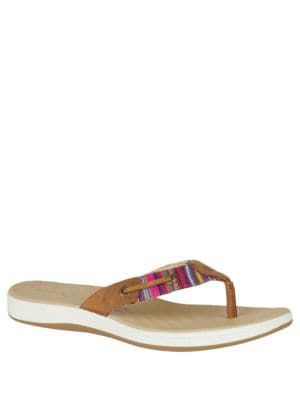Seabrook Surf Striped Flip Flops by Sperry