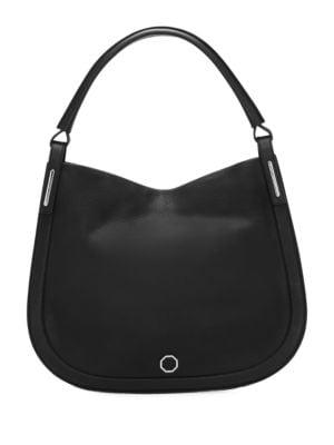 Ivie Leather Hobo Bag...