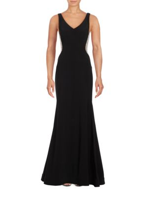 Embellished V-Neck Mermaid Gown by Xscape