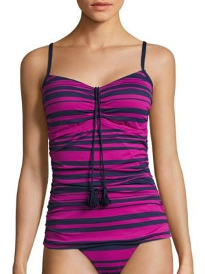 Variegated Stripe Tankini Top by Tommy Bahama
