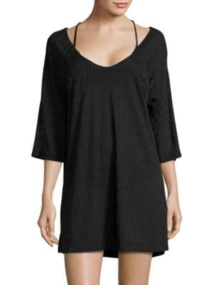 Textured Tunic Coverup by J Valdi