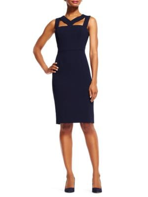 Cut-Out Power Sheath Dress by Adrianna Papell