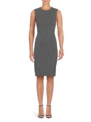 Geometric Print Sheath Dress by Calvin Klein
