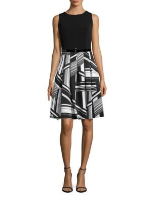 Belted Fit-and-Flare Dress by Tommy Hilfiger