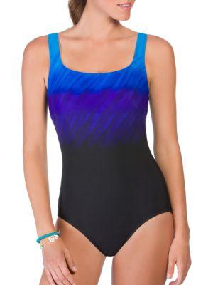Scoopneck One-Piece Swimsuit by Reebok