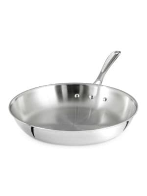 10-Inch Tri-Ply Stainless Steel Omelet Fry Pan