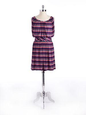 Striped Blouson Dress by Nine West