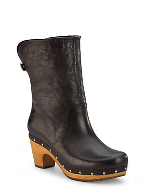 211ac9d6e60 Ugg - Lynnea Leather & Shearling Studded Clog Ankle Boots ...