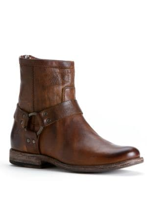 Phillip Harness Short Vintage Leather Boot by Frye