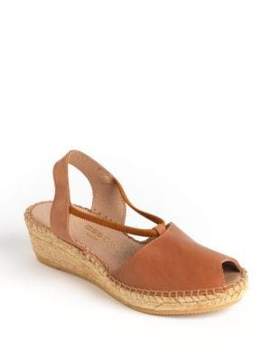Dainty Leather Espadrille Pumps by Andre Assous