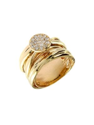 0.35 TCW Diamond And 14K Yellow Gold Stacked Ring