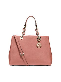 e331b9aefcf32 Product image. QUICK VIEW. MICHAEL Michael Kors. Cynthia Leather Medium  Satchel