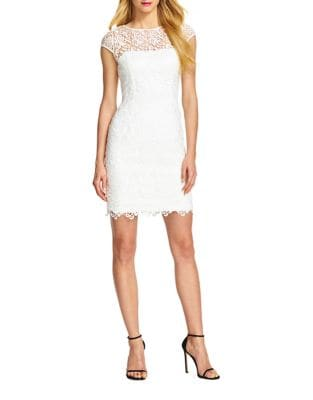 Photo of Adrianna Papell Lace Illusion Cocktail Dress