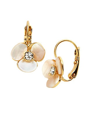 d2df40f12572f Kate Spade New York - Disco Pansy Mother-Of-Pearl Leverback Earrings
