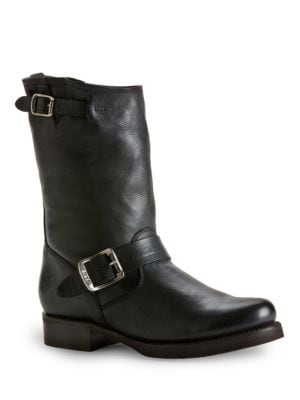 Photo of Veronica Leather Shortie Boots by Frye - shop Frye shoes sales
