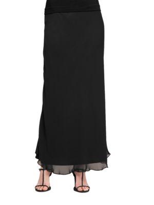 Plus Long A-Line Skirt by Alex Evenings