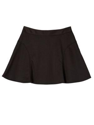 Girl's Black Skater Skirt...