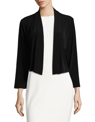 Cropped Jersey Shrug by Calvin Klein