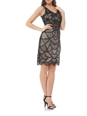 Art Deco Beaded Dress by Js Collections