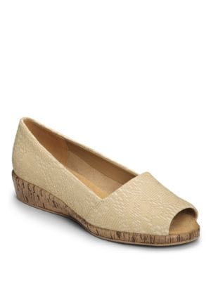 Sprig Break Leather and Cork Wedges by Aerosoles