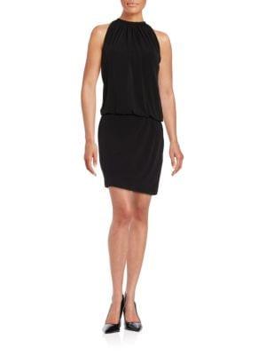 Blouson Halterneck Dress by Jessica Simpson