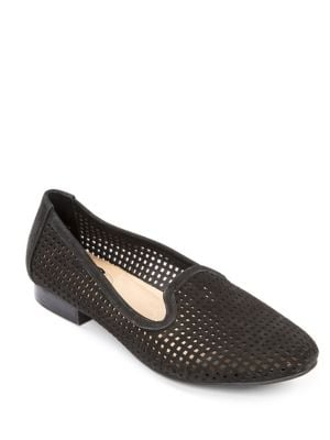 Yale Round-Toe Perforated Loafers by Me Too