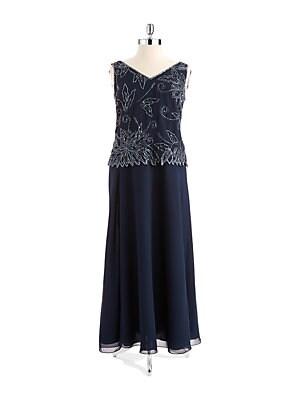 J kara dusty blue dress