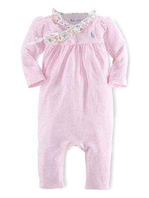 Baby's Striped Wrap Coverall...