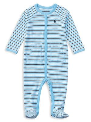 Baby Boy's Striped Coverall...