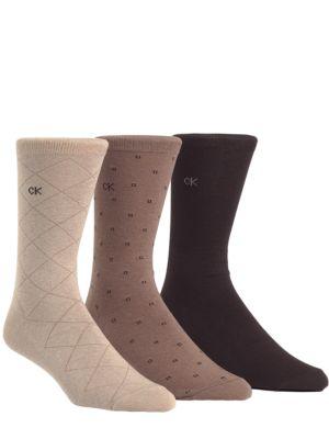 Three-Pack Dress Socks...