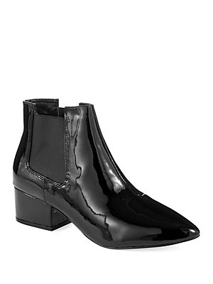 e9dcd22e3dc French Connection - Ronan Faux Patent Leather Point Toe Chelsea Boots -  lordandtaylor.com