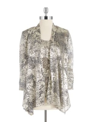 Metallic Jacket And Tank Combo by Cachet