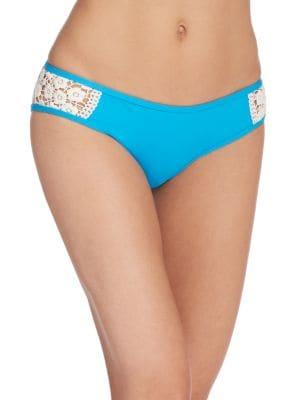 Crochet Detail Hipster Bikini Bottom by Lucky Brand