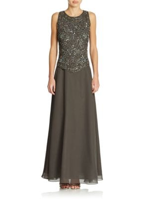 Beaded Gown by J Kara