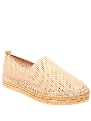 Perforated Faux Leather Slip-On Sneakers by Steve Madden