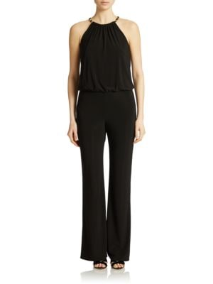Chain-Trimmed Jersey Jumpsuit by Laundry by Shelli Segal