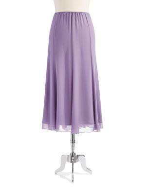 Stretch Waist Tea Length Skirt by Alex Evenings