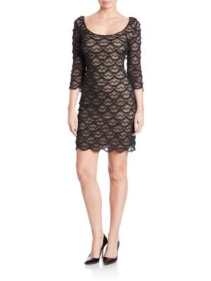 Scalloped Fringe Bodycon Dress by Guess