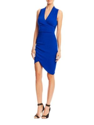 Asymmetrical Draped Front Dress by Nicole Miller