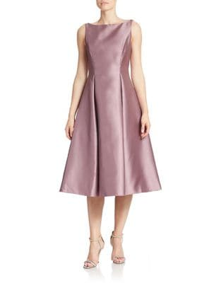 Tea-Length Fit-and-Flare Dress by Adrianna Papell