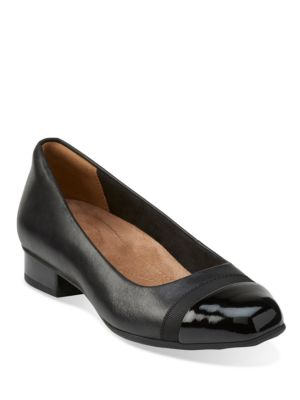 Keesha Rose Leather Cap Toe Heels by Clarks