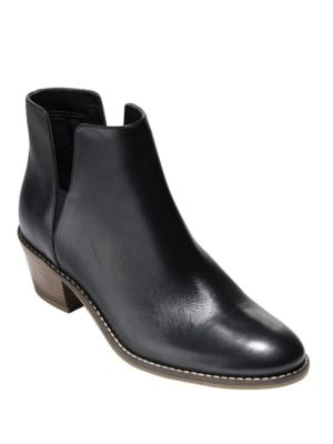 Abbot Leather Booties by Cole Haan